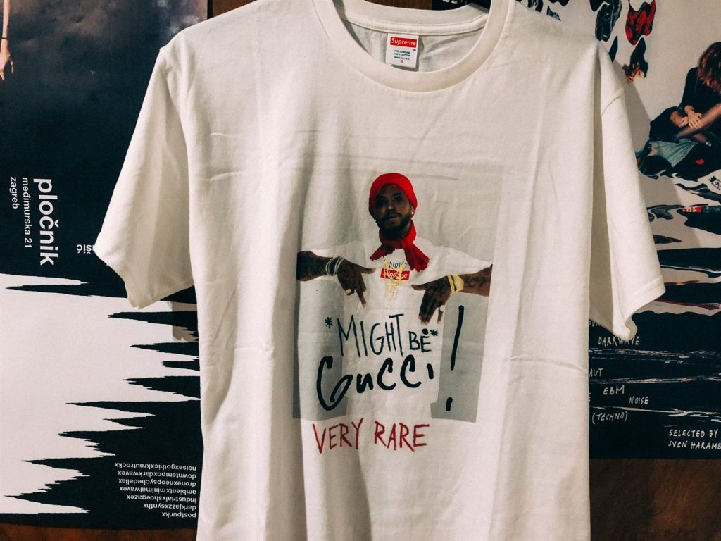 VERY RARE gucci mane x supreme tee - by sven harambasic