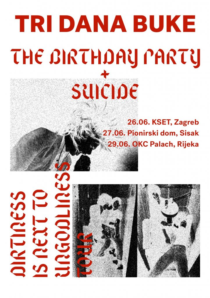The Birthday Party & Suicide, live in Croatia, Poster by Sven Harambasic